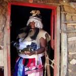 Zulu Sangoma In Hut