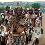 Zulu Men At A Traditional Zulu Wedding