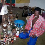 Zulu Sangoma With Traditional Medicine